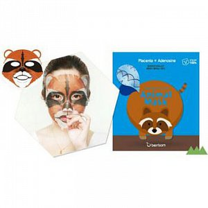 Berrisom Animal Маска тканевая с экстрактом плаценты Animal mask series — raccoon