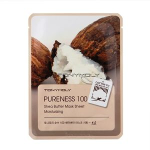 TONY MOLY Тканевая маска с экстрактом масла Ши Pureness 100 Shea Butter Mask Sheet Moisturizing